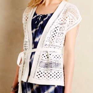 Knitted & Knotted Crochet Wrap Vest